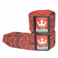 Vendas De Boxeo semielásticas Buddha Tattoo rojo 4,5 metros (Par)
